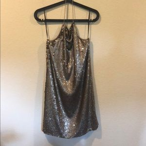 NWT amanda uprichard jem dress champagne sequins